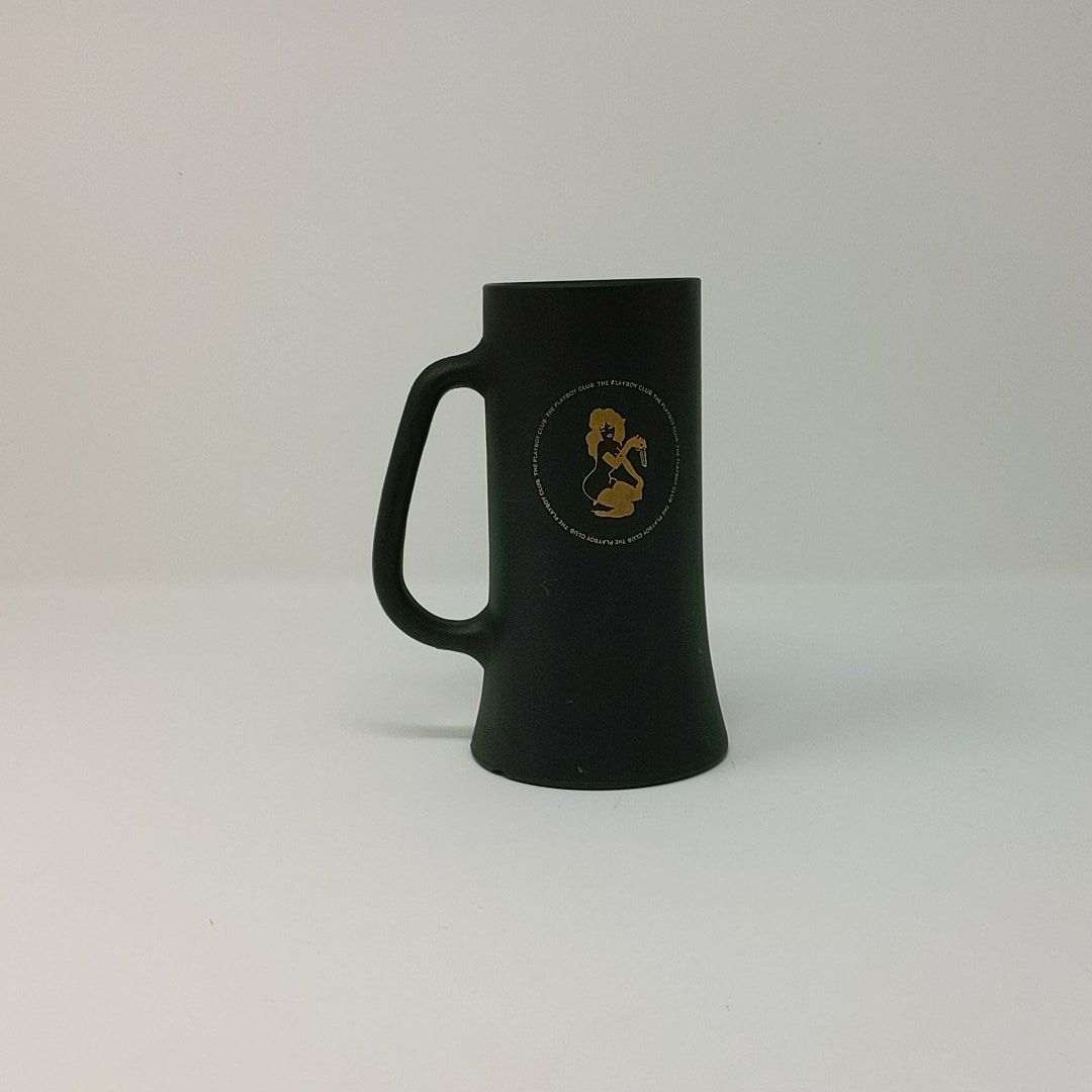 Vintage Gold Key Playboy Club Black Frosted Mug