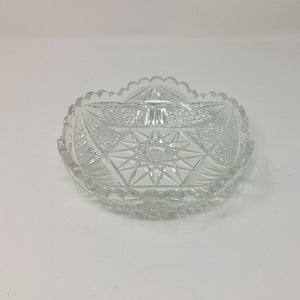 Vintage Scalloped Cut Glass Candy Dish