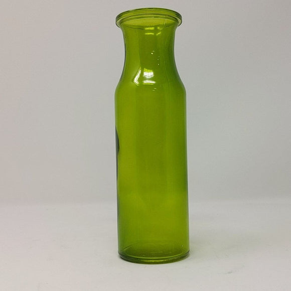 Vintage Bud Vase, Green Glass