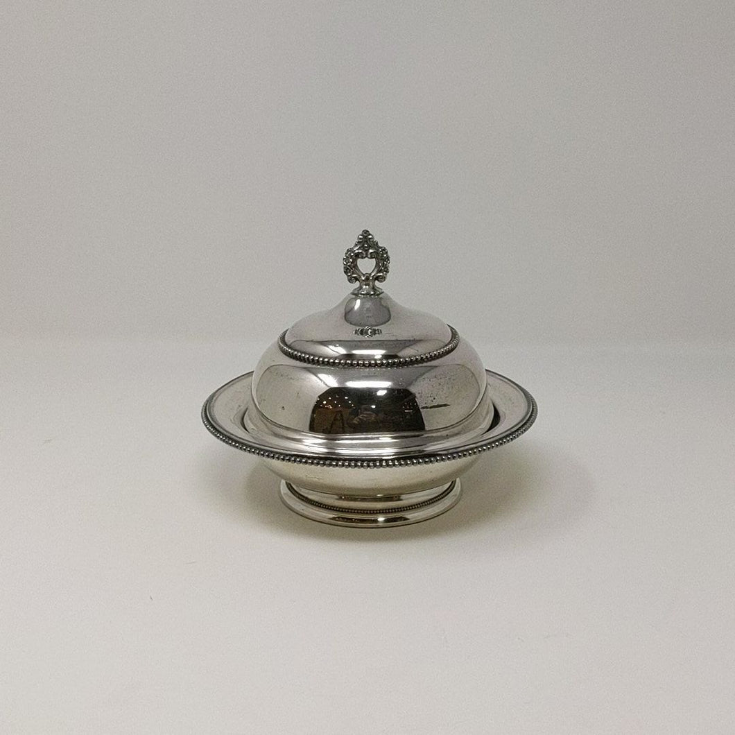 Wallace Bros. Silver Plate Butter Dish