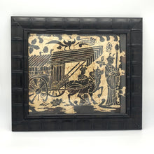 Load image into Gallery viewer, Asian Rice Paper Art in Dark Bamboo Frame