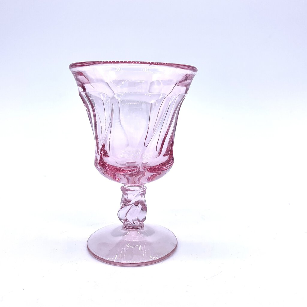 Fostoria Jamestown Pink Depression Wine Glass