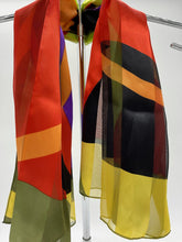 Load image into Gallery viewer, Bright Multicolor Circle Thick Stripe Scarf