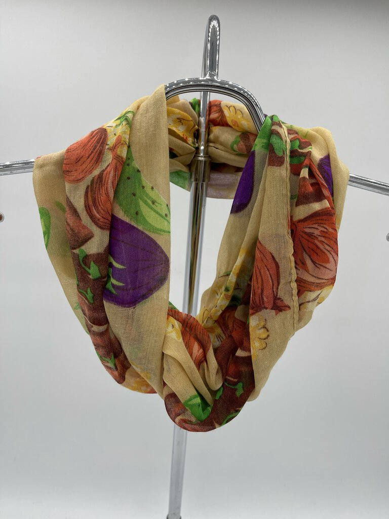 Vegetable Print Infinity Scarf