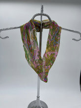 Load image into Gallery viewer, Green and Pink Small Infinity Scarf