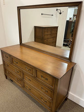 Load image into Gallery viewer, Vintage Walnut Drexel Heritage 7 Drawer Dresser