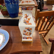 Load image into Gallery viewer, Greenspan Orange Pattern Chinoiserie Lamp with Shade