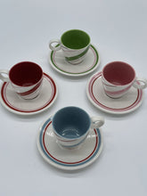Load image into Gallery viewer, Starbucks 2007 Candy Stripe Demitasse Cups- Set of 4