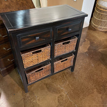 Load image into Gallery viewer, Espresso Finish 2 Drawer Chest with Storage Baskets