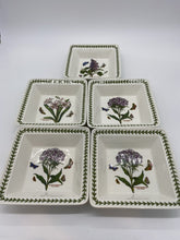 Load image into Gallery viewer, Portmeirion Botanic Garden Square Pasta Bowls- set of 5