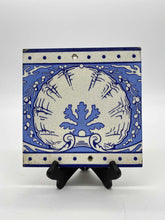 Load image into Gallery viewer, Minton's China Works Blue and White Tile with Shell