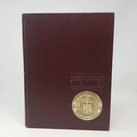 Pines 1966 Burgundy & Gold Yearbook