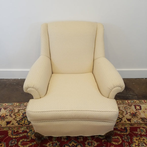 Vintage Upholstered Cream Arm Chair