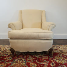 Load image into Gallery viewer, Vintage Upholstered Cream Arm Chair