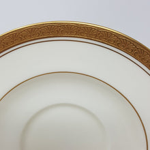 Load image into Gallery viewer, Noritake Canterbury Set of 4 Cup & Saucer Greek Gold Trim