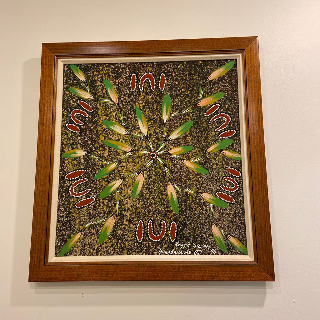 Bush Bananas 1996 Painting by Aboriginal Artist Reggie Sultan