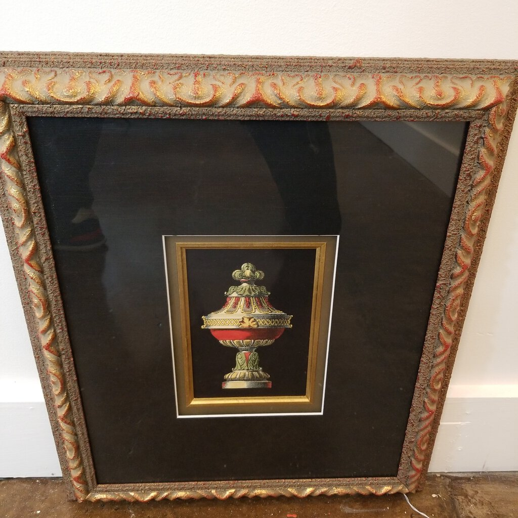Pair of Urn Prints Double Matted