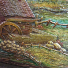 Load image into Gallery viewer, Black Forest Carved Painting of Watermill