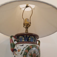 Load image into Gallery viewer, Hand Painted Italian Style Lamp with Pleated Shade