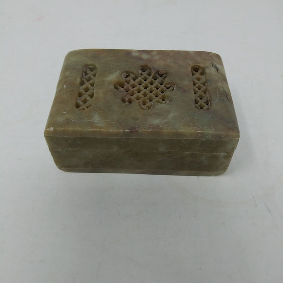 Carved Soapstone Trinket Box