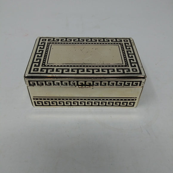 Silver Plated Designed Lidded Trinket Box