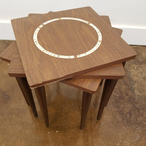 Mid Century Stack Tables w Tile Insets