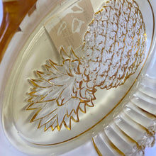 Load image into Gallery viewer, Indiana Glass Yellow Mist Pineapple Serving Dish