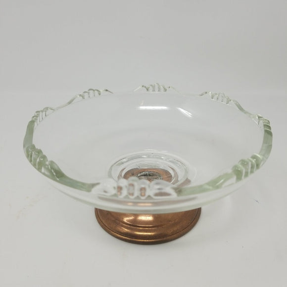 Small Glass Design Compote