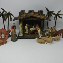 Load image into Gallery viewer, Vintage Papier Mache Nativity Set