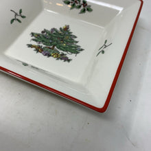 Load image into Gallery viewer, Spode Christmas Tree Red Band Square Tray