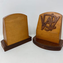 Load image into Gallery viewer, Wood Vintage Monogrammed Bookends