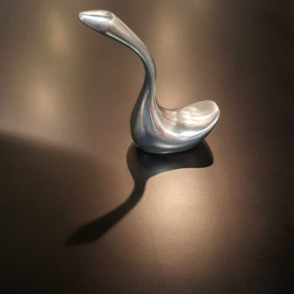Hoselton Canada Aluminum Sculpture of Swan - #1362 Signed on the Bottom