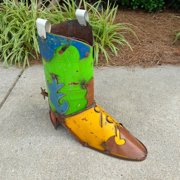 Metal Boot Planter