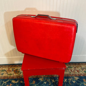 American Tourister Vintage Red Suitcase