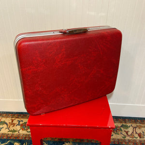 Open Road Vintage Red Suitcase