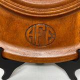 Round Mahogany Serving Tray- HFE Monogram