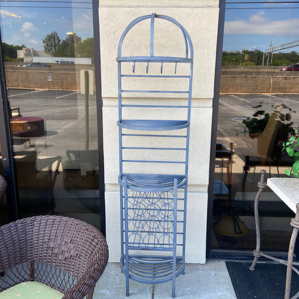 Painted Metal Wine Bar Rack