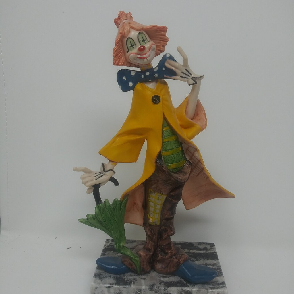 Fontanini Depose Clown with Umbrella