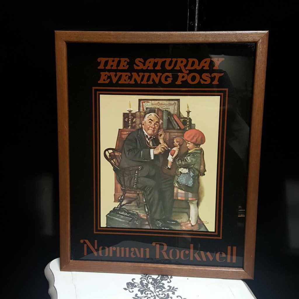 The Saturday Evening Post Glass Print