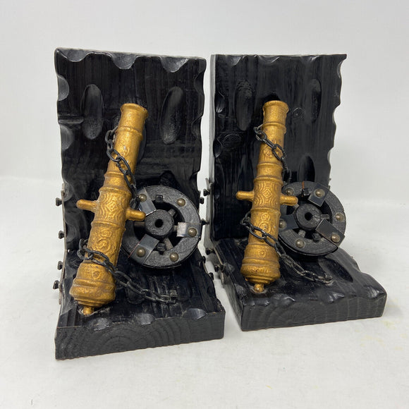 Vintage Cannon Bookends- Pair