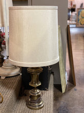 Load image into Gallery viewer, Pair of Stiffel Brass Lamps with Original Shades