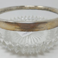 Load image into Gallery viewer, Yeoman Glass Bowl with Silverplate Rim