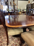 Banded Mahogany Dining Table