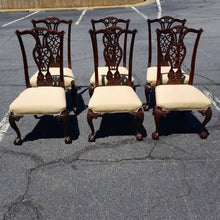 Load image into Gallery viewer, Chippendale Mahogany Dining Chairs- Set of 6
