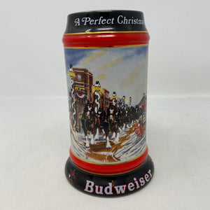 Budweiser A Perfect Christmas 1992 Stein Mug