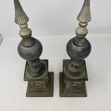 Load image into Gallery viewer, Gray Decorative Finial- Pair