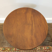 Load image into Gallery viewer, Round Walnut Accent Table