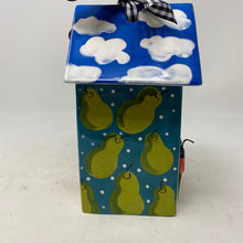 Load image into Gallery viewer, Lynn Morris Ceramic Birdhouse Decor, Lady Bugs, Frogs, Clouds