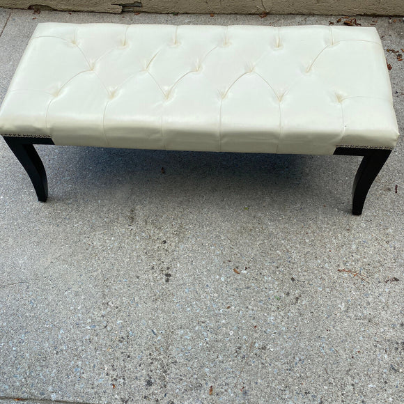 Safavieh Faux Leather White Bench