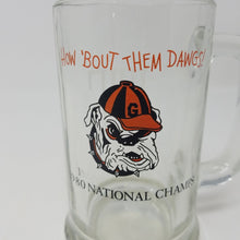 Load image into Gallery viewer, UGA 1980 National Champs Glass Mug Monogrammed